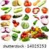 large page of vegetables - stock photo