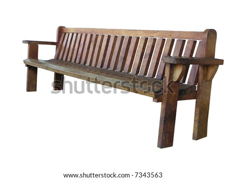 Large park bench - stock photo