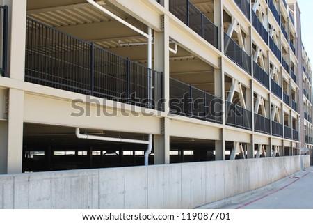 Large parking garage - stock photo