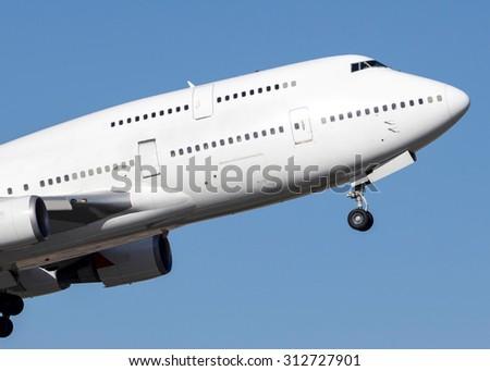Large passenger aircraft - stock photo