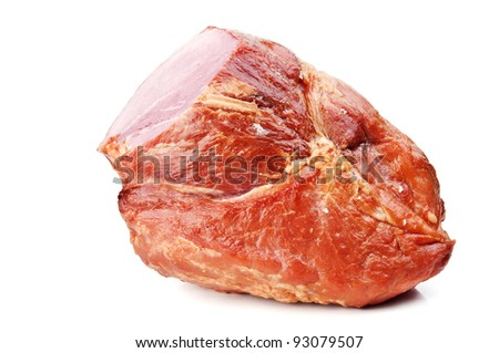 large piece of meat isolated on a white background - stock photo