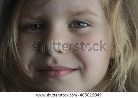 large portrait of girl - stock photo