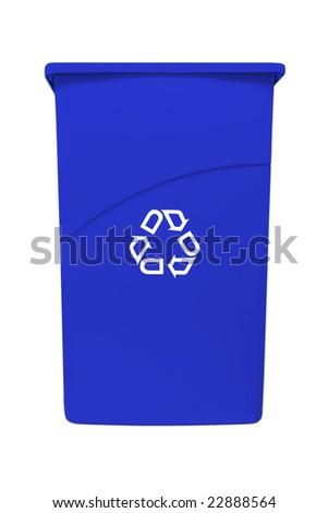 Large recycling garbage bin - stock photo