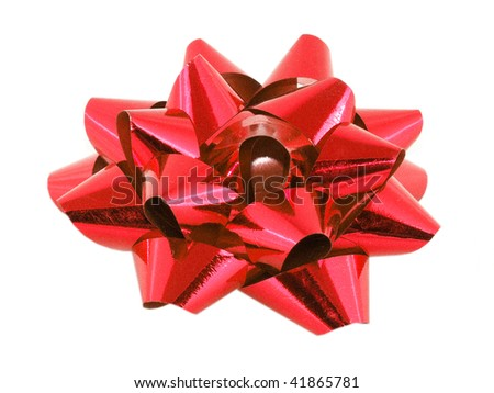 Large red bow - stock photo