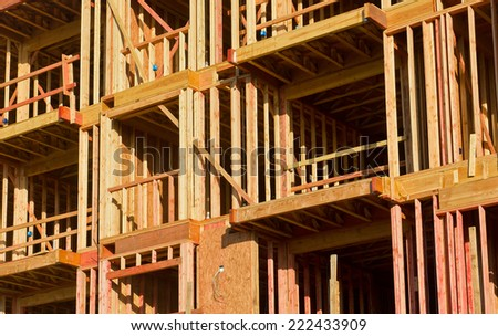 Large residential building is under construction. - stock photo