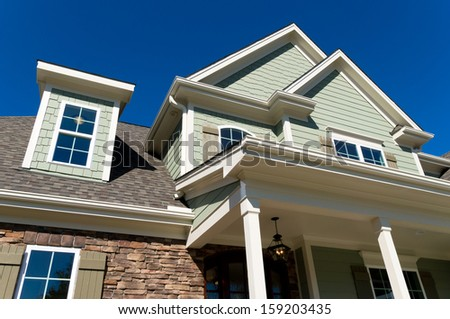 Large residential house exterior details  - stock photo