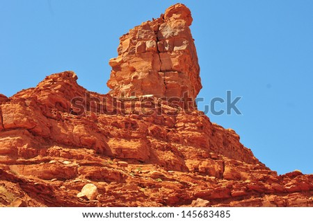Large rock formation in the Valley of the Gods