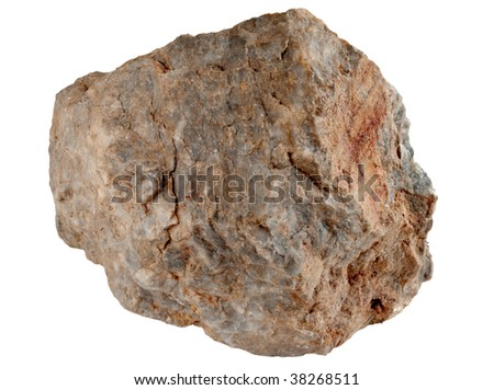 Large rock stone isolated on a white background.