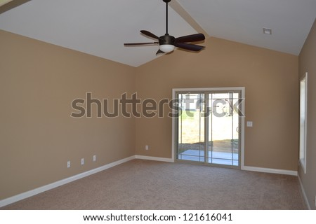 Large Room in Interior of a Home - stock photo