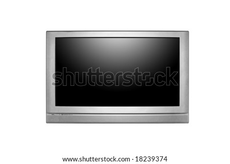 Large Screen Television Isolated With Empty Black Screen Insert Your Own Design