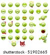 Large set of cool smileys. Isolated on a white. - stock vector