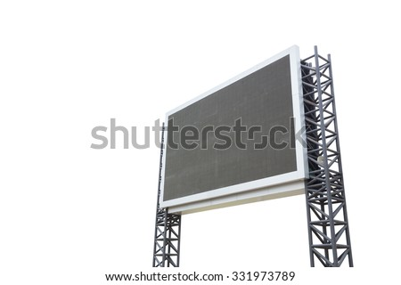 large sign board isolated on a white background (with clipping part) - stock photo