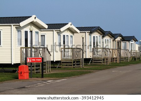 Large site caravans with fire point.
