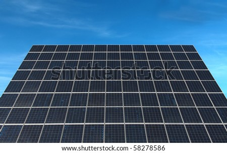 Large solar panel from a photovoltaic power station. - stock photo