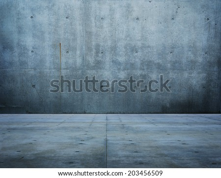 Large space of raw concrete.   - stock photo