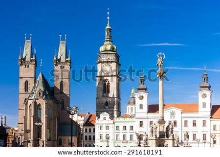 Large Square, Hradec Kralove, Czech Republic - stock photo