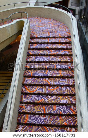 Large stairs - stock photo