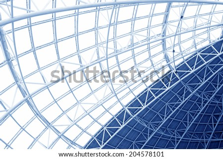 Large steel structure truss, closeup of photo