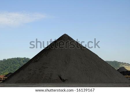Large Stockpile of Coal - stock photo