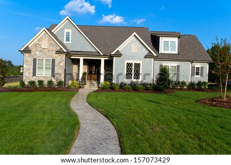 Large suburban house  - stock photo