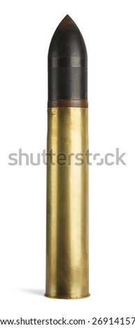 Large Tank Shell Isolated on a White Background. - stock photo