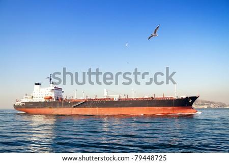 Large Tanker Ship - stock photo
