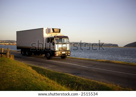 Large transport truck - stock photo