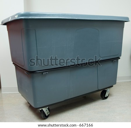 Large Trash Bin - stock photo