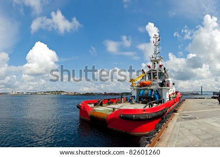 Large tugboat berth in the port of Stavanger, Norway.