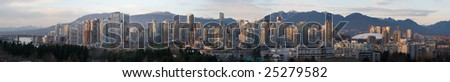 Large Vancouver Daytime Panorama - stock photo