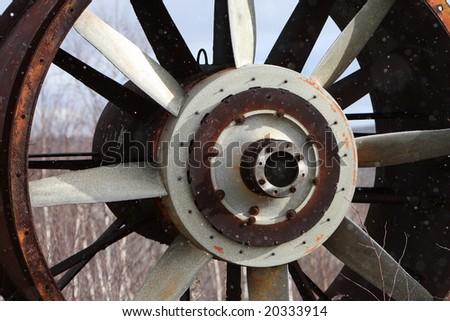large ventilation fan used in mining sudbury ontario canada - stock photo