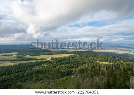 Large view at the high mountains Alps Austria - stock photo