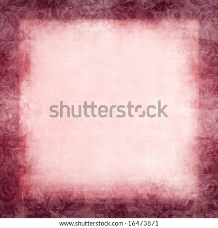 Large Vintage Damask Background - stock photo
