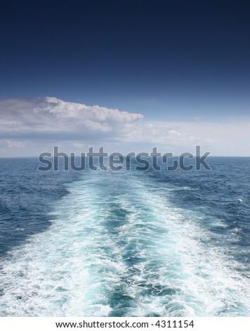 Large wake - stock photo