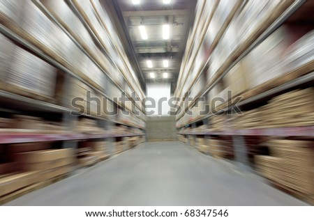 Large warehouse - stock photo