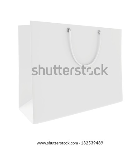 large white shopping bag