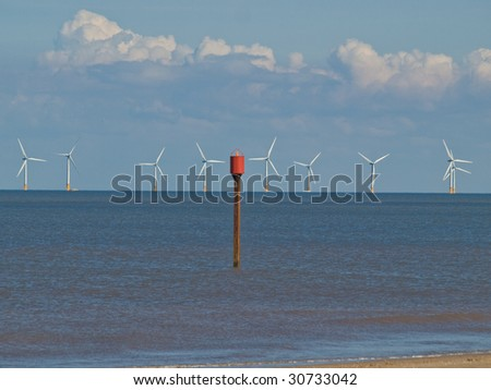 Large wind farm off the coast of Lincolnshire