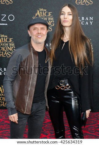 Lars Ulrich and Jessica Miller at the Los Angeles premiere of 'Alice Through The Looking Glass' held at the El Capitan Theater in Hollywood, USA on May 23, 2016.