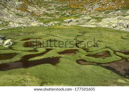 Las Lagunillas in Sierra de Gredos, Spain - stock photo