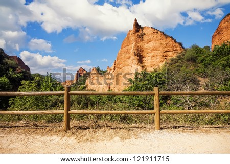 Las Medulas, ancient Roman mines, UNESCO, Leon, Spain - stock photo