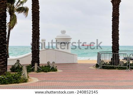 Las Olas Beach in Ft Lauderdale, Florida - stock photo