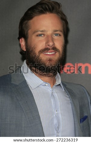 LAS VEGAS - APR 21: Armie Hammer at the Warner Bros. Pictures Exclusive Presentation Highlighting the Summer of 2015 and Beyond at Caesars Pallace on April 21, 2015 in Las Vegas, NV - stock photo