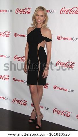 LAS VEGAS - APR 26:  CHARLIZE THERON arrives afor the Cinema Con 2012-Final Night Awards  on April 26, 2012 in Las Vegas, NV - stock photo
