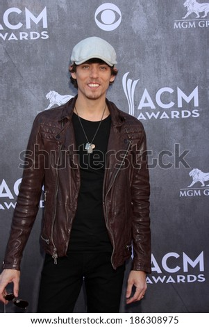 LAS VEGAS - APR 6:  Chris Janson at the 2014 Academy of Country Music Awards - Arrivals at MGM Grand Garden Arena on April 6, 2014 in Las Vegas, NV - stock photo
