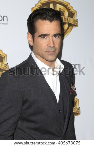LAS VEGAS - APR 12: Colin Farrell at the Warner Bros. Pictures Presentation during CinemaCon at Caesars Palace on April 12, 2016 in Las Vegas, Nevada - stock photo