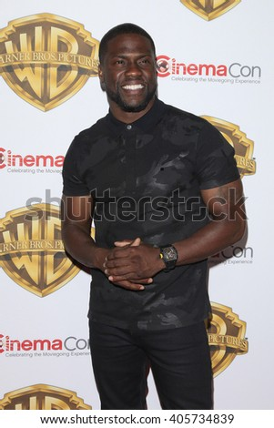 LAS VEGAS - APR 12: Kevin Hart at the Warner Bros. Pictures Presentation during CinemaCon at Caesars Palace on April 12, 2016 in Las Vegas, Nevada - stock photo