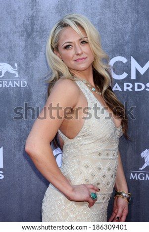 LAS VEGAS - APR 6:  Leah Turner at the 2014 Academy of Country Music Awards - Arrivals at MGM Grand Garden Arena on April 6, 2014 in Las Vegas, NV - stock photo