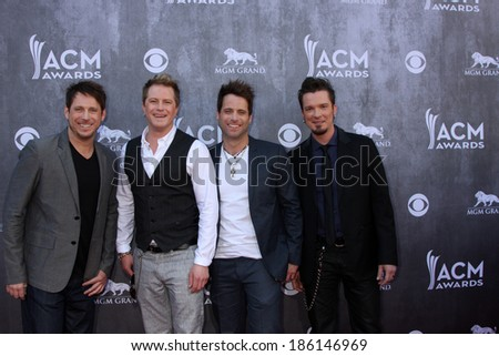 LAS VEGAS - APR 6:  Parmalee at the 2014 Academy of Country Music Awards - Arrivals at MGM Grand Garden Arena on April 6, 2014 in Las Vegas, NV