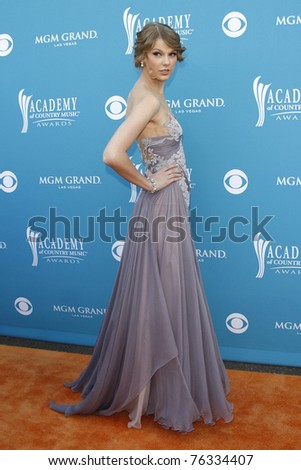 LAS VEGAS - APR 18:  Taylor Swift at the 45th Annual Academy of Country Music Awards held the MGM Grand Garden Arena in Las Vegas, Nevada on April 18, 2010. - stock photo