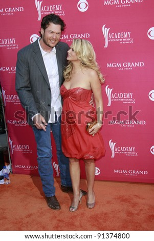 LAS VEGAS - APRIL 5: Blake Shelton; Miranda Lambert at the 44th annual Academy Of Country Music Awards held at the MGM Grand on April 5, 2009 in Las Vegas, Nevada - stock photo